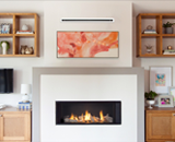 L1 Linear Series with Driftwood, 1 Inch Trim and the Valor HeatShift System