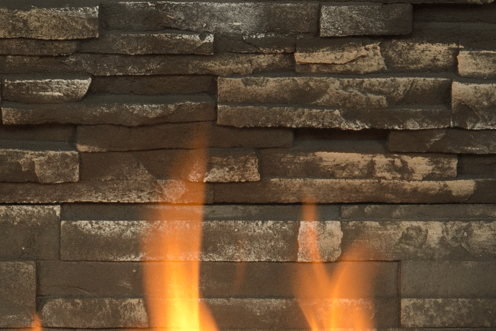H3 Gas Fireplace Ledgestone Liner