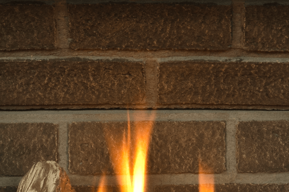 Horizon Gas Fireplace Red Brick Liner