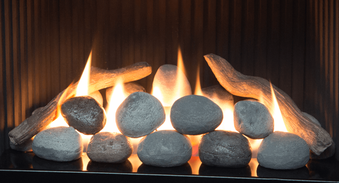 Rock Set for Valor gas fireplaces