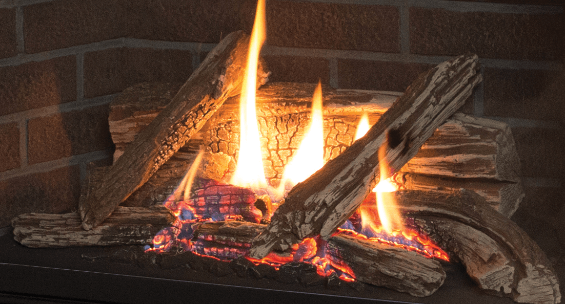 Traditional Logs for Valor gas fireplaces