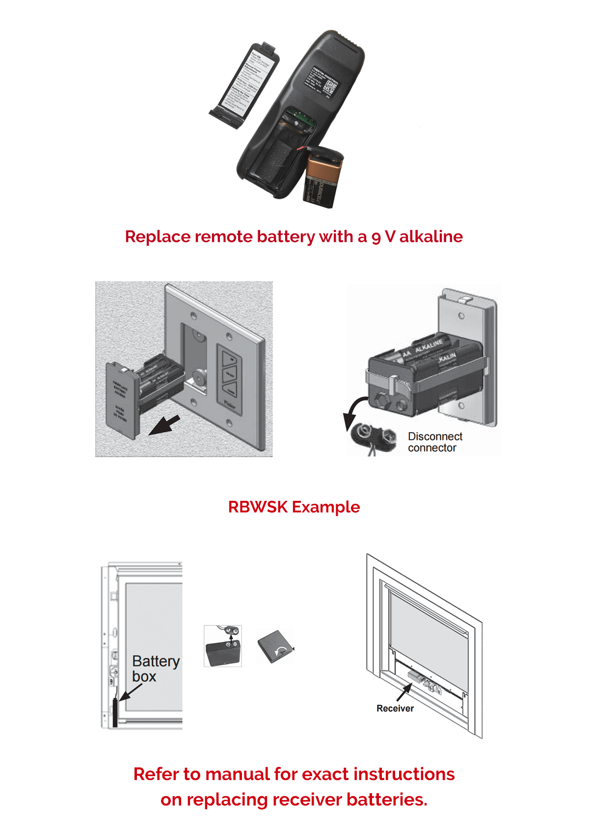 Replacing the batteries in your Valor gas fireplace remote or receiver