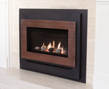 Legend G3 Insert Series shown with Rocks and Bronze Contemporary Surround