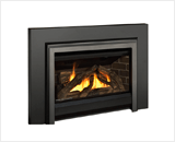 Legend G3 Insert Series shown with Logs, Clearview Front, Clearview Access Panel and 3-Sided Square Trim Kit in Vintage Iron