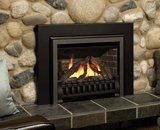 Legend G3 Insert Series shown with Logs, Clearview Front and Square Trim Kit in Black