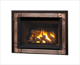 Legend G4 Insert Series shown with Logs, Edgemont Hammered Front in Copper and Backing Plate