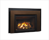 Legend G4 Insert Series shown with 780 Logs, Floating Trim Kit in Bronze and Backing Plate
