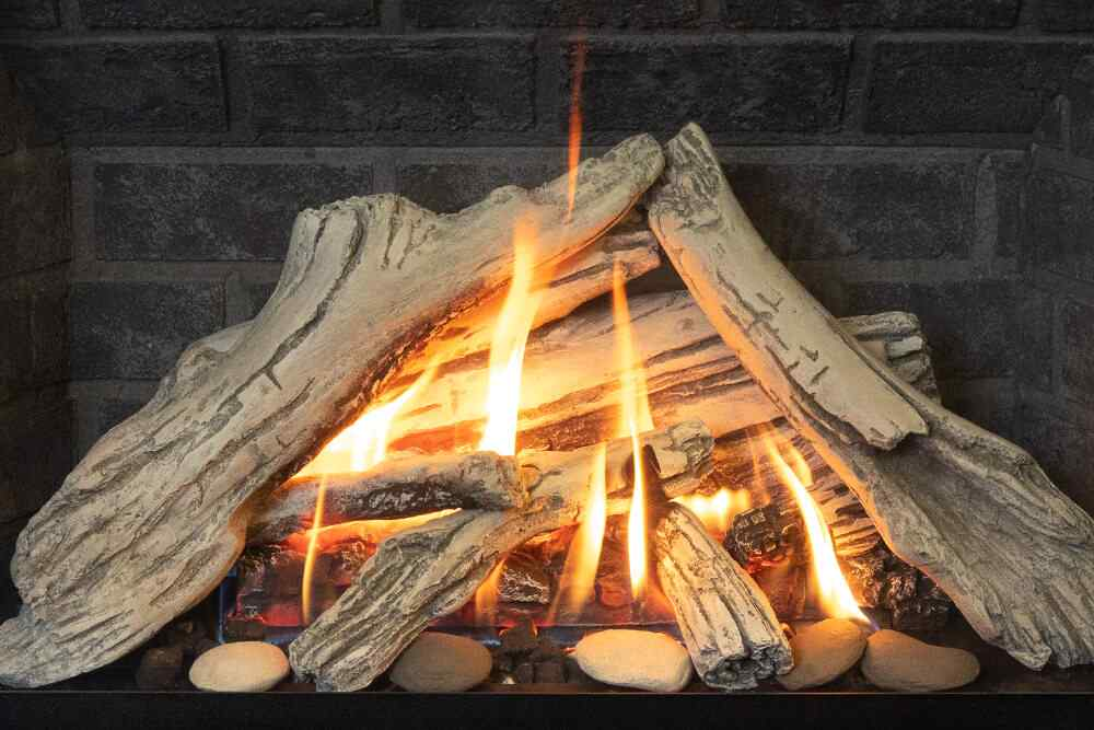 H3 Gas Fireplace Driftwood