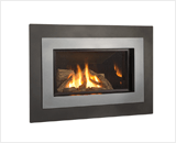 H4 Series shown with Logs, Outer Landscape Surround and Brushed Nickel Inner Bezel