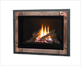 H5 Series shown with Logs and Edgemont Hammered Front in Copper