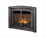 Horizon Series shown with Logs, FenderFire Double Door and Vintage Arched Cast Surround