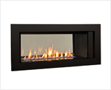 L1 2-Sided Series shown with Murano Glass, Fluted Black Liner and 3 1/2 Inch Trim in Black
