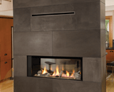 L1 2-Sided Linear Series with Driftwood, 1 Inch Surround and the Valor HeatShift System