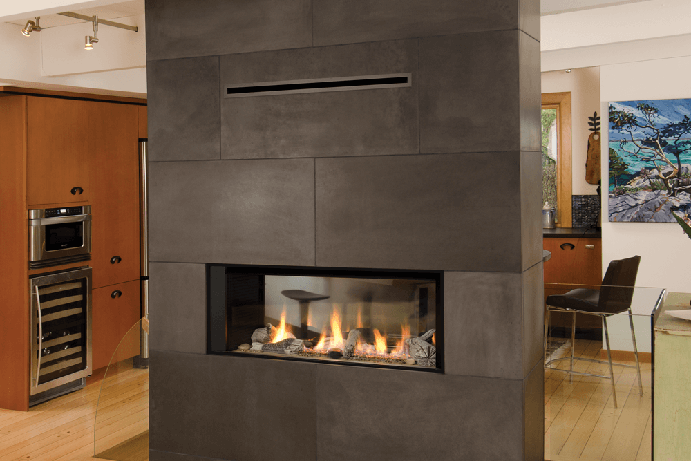 fireplace insert design two sided ideas