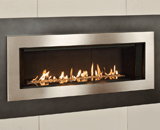 L2 Linear Series shown with Murano Glass and 5 1/4 Inch Inch Surround in Brushed Nickel