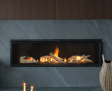 L2 Linear Series shown with Driftwood, 1 Inch Surround and the Valor HeatShift System
