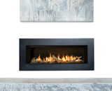 L2 Linear Series shown with Driftwood, 5 1/4 Inch Inch Trim in Black and the Valor HeatShift System