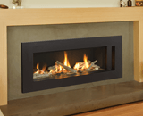 L2 Linear Series shown with Driftwood and 5 1/4 Inch Surround in Black