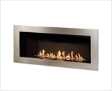 L2 Linear Series with Murano Glass, Fluted Black Liner and 5 1/4 Inch Surround in Brushed Nickel