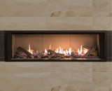 L2 Linear Series with Splitwood Logs, Limestone Liner and 1 Inch Trim in Black