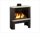 Madrona Contemporary Series shown Log Fuel Bed