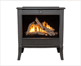 Madrona Traditional Series shown with Traditional Square Front and Driftwood Fuel Bed