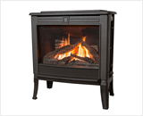 Madrona Traditional Series shown with Traditional Square Front and Log Fuel Bed