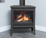 Madrona Traditional Series shown Logs and Traditional Square Front in Black