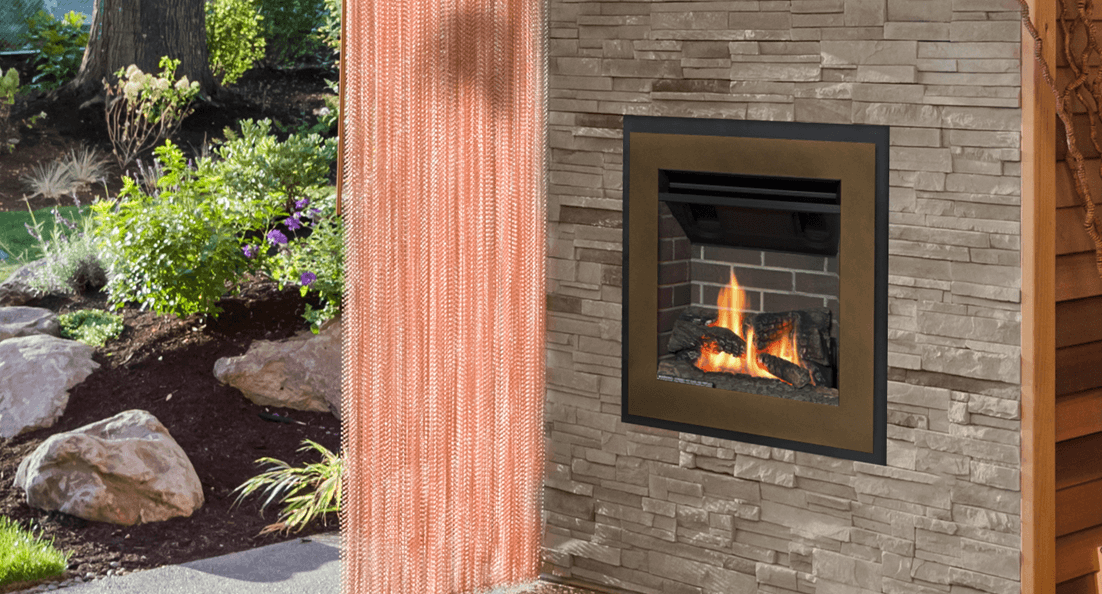 Valor Portrait gas fireplace