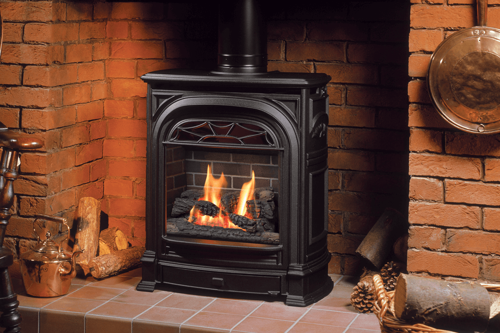 Fireplace Design free standing ventless propane fireplace : Valor | Portrait President Freestanding