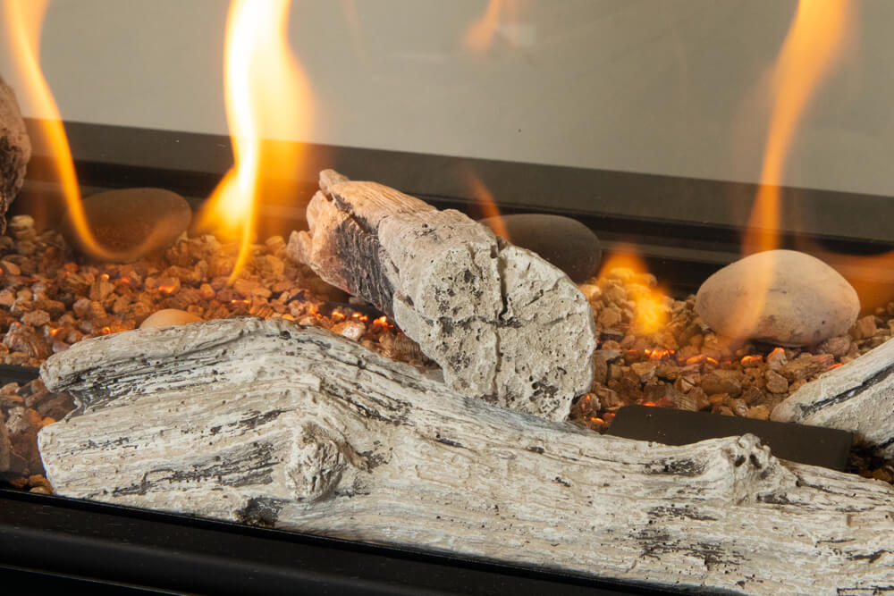 LX1 Pier Gas Fireplace Driftwood