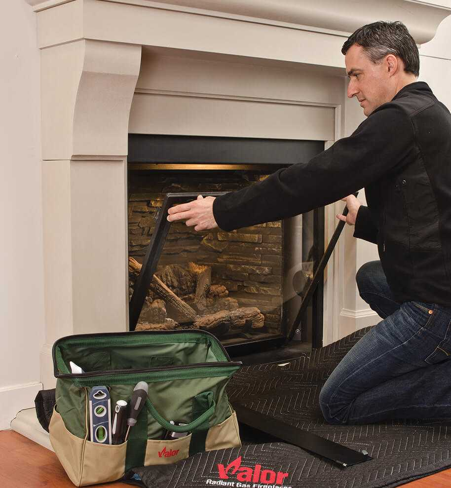 Valor Fireplaces glass maintenance and removal