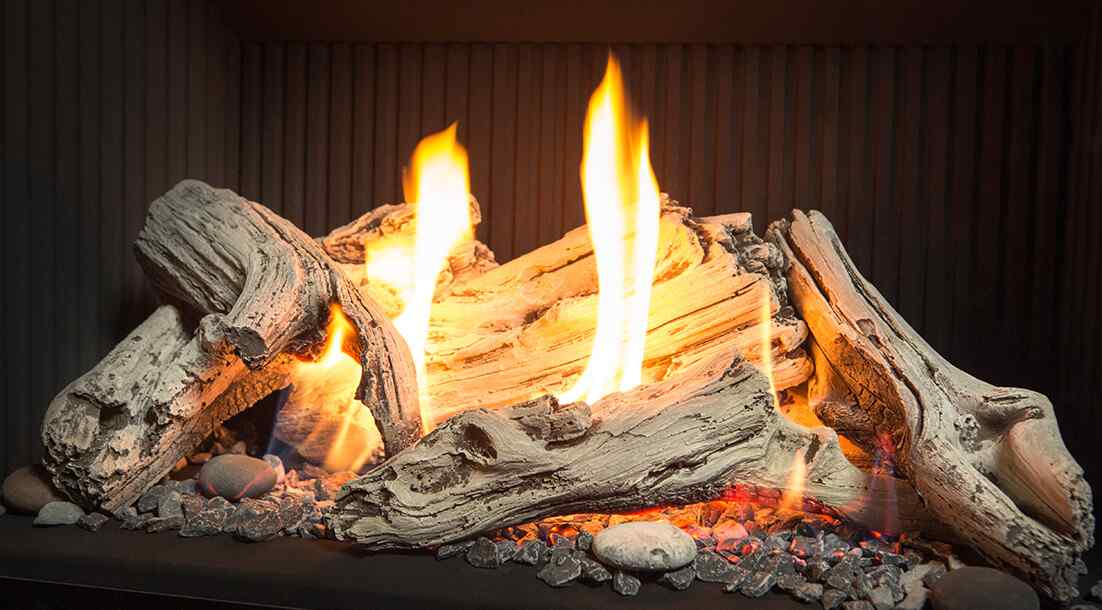 Natural gas is the cleanest fireplace fuel