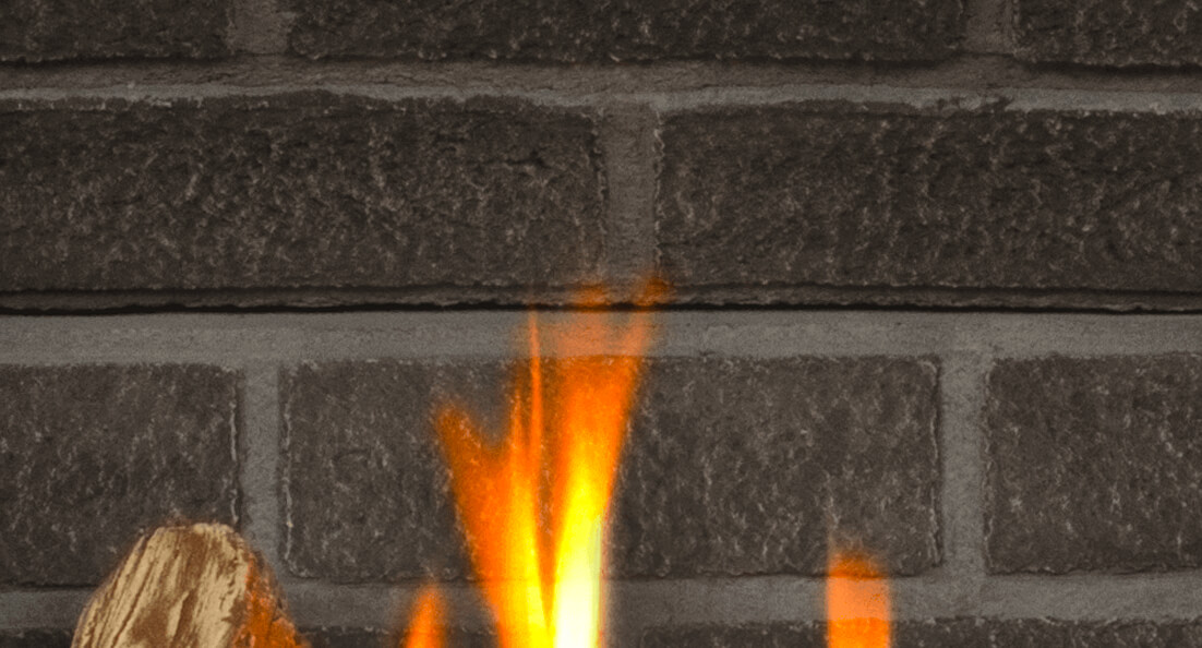 Charcoal Brick Liner for Valor gas fireplaces