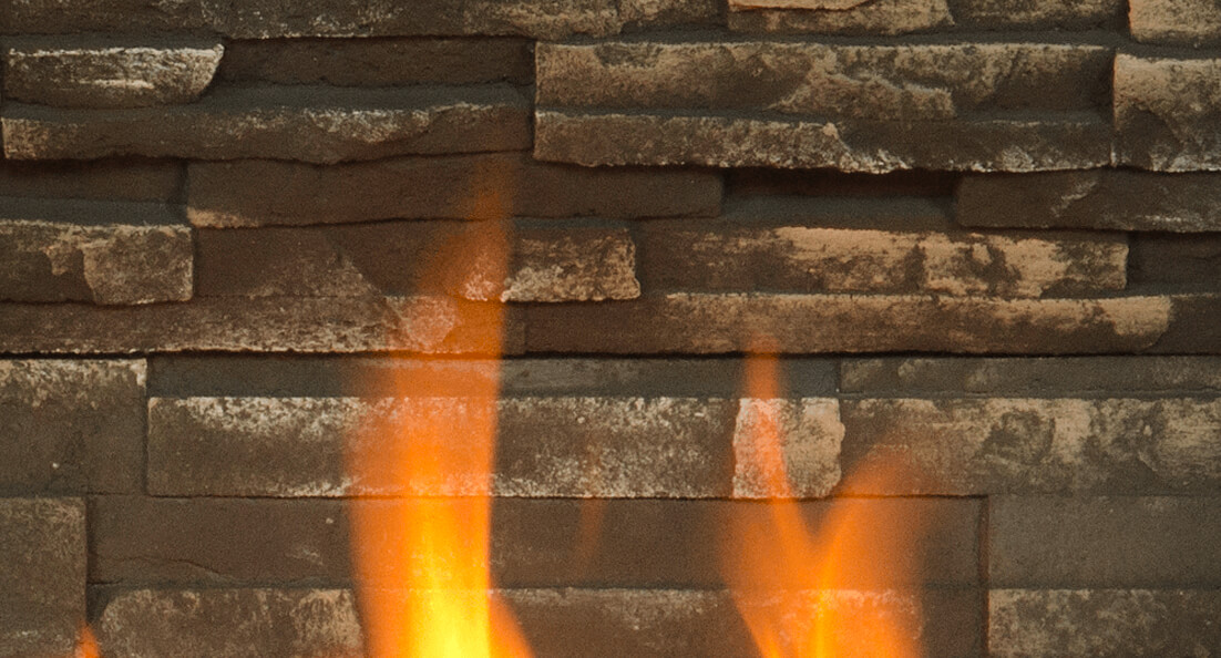 Ledgestone Liner for Valor gas fireplaces