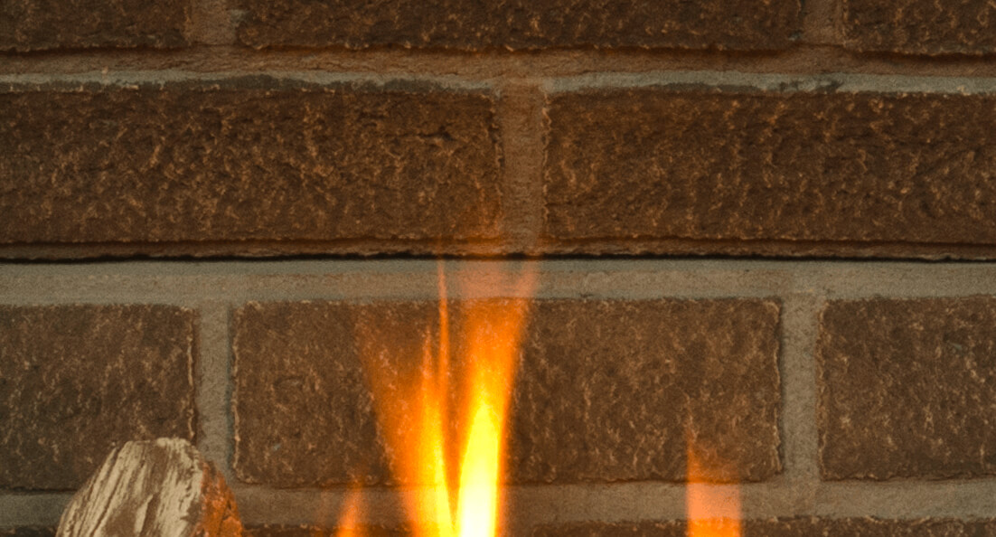 Red Brick Liner for Valor gas fireplaces