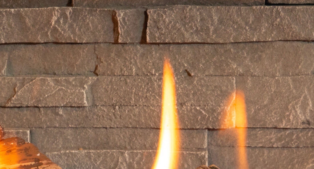 Stacked Stone Liner for Valor gas fireplaces
